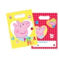Peppa Pig Party Loot / Party Bags (8) -New red